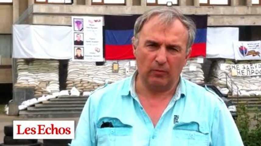 Illustration pour la vidéo Ukraine : Slaviansk ressemble à une ville fantôme