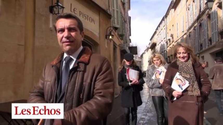 Illustration pour la vidéo Aix-en-Provence : une campagne rattrapée par les affaires