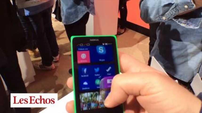 Illustration pour la vidéo Le Nokia X vise les pays émergents