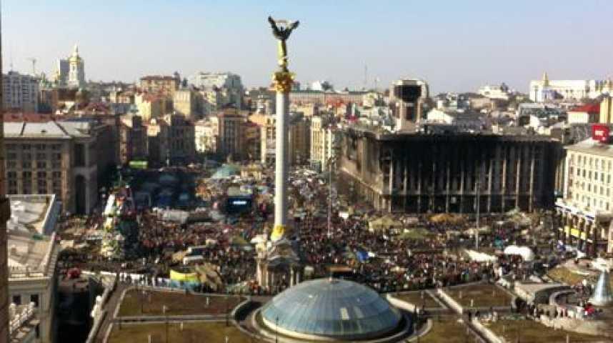 Illustration pour la vidéo Plan de Maîdan, place centrale de la révolution, à Kiev