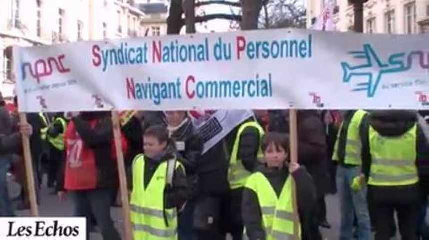 Illustration pour la vidéo Les personnels de l?aérien défendent leur droit de grève