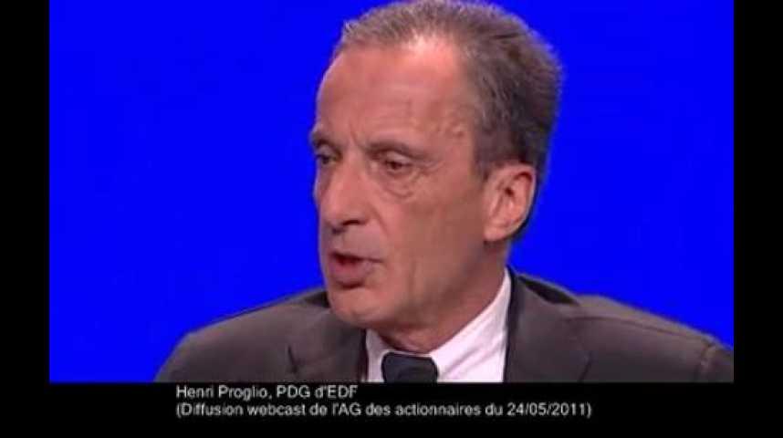 Illustration pour la vidéo Henri Proglio, AG d'EDF
