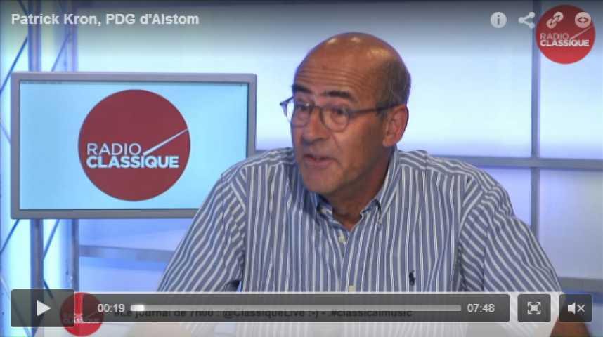 Illustration pour la vidéo Patrick Kron, PDG d'Alstom
