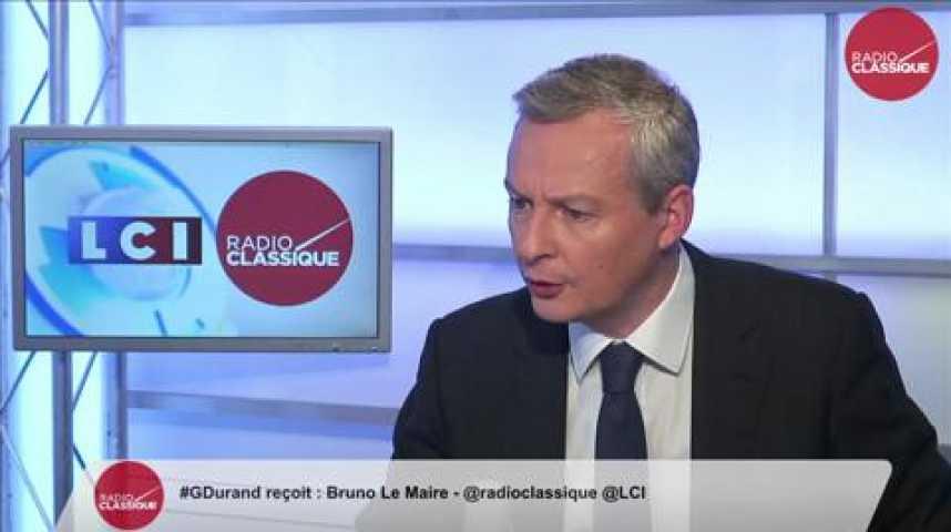 """Illustration pour la vidéo Bruno Le Maire: Départementales: """"C'est une claque historique pour le PS. François Hollande plane."""""""