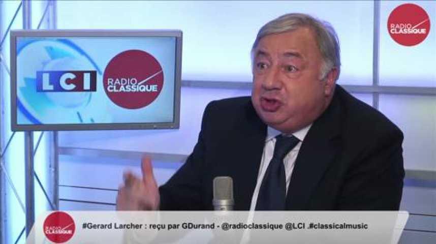"""Illustration pour la vidéo Gérard Larcher, """"Hollande a en perspective 2017, sa candidature est évidente"""""""