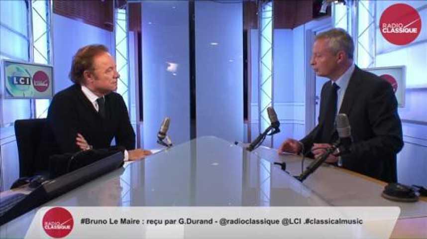 Illustration pour la vidéo Bruno Le Maire : Syrie : « La France doit obtenir une coalition internationale et aller frapper au sol Daech.»