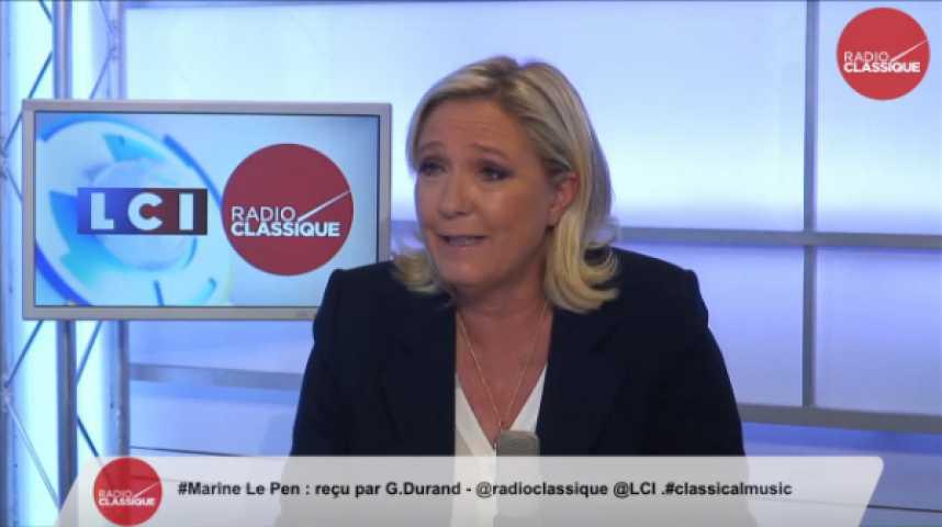 """Illustration pour la vidéo Marine Le Pen : """"Le gouvernement est incapable de régler le problème de l'immigration clandestine"""""""