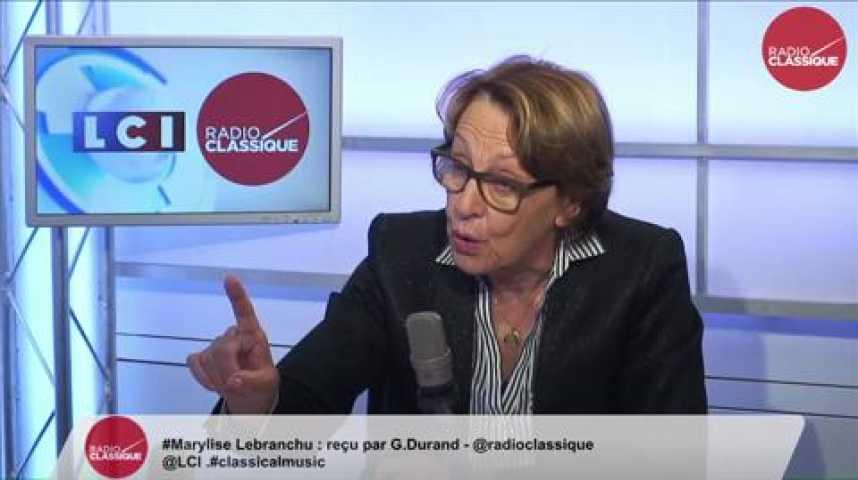 Illustration pour la vidéo Marylise Lebranchu, « Il faut continuer à traiter humainement le problème de Calais. »