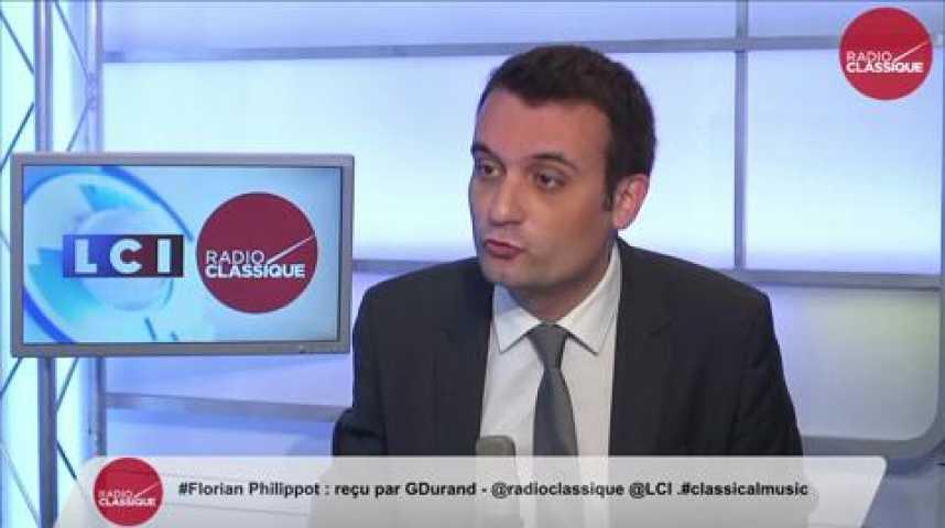 """Illustration pour la vidéo Florian Philippot: Qatar: """"Est-ce que Hollande accepte qu'une puissance dictatoriale étrangère s'ingère dans la parole publique?"""""""