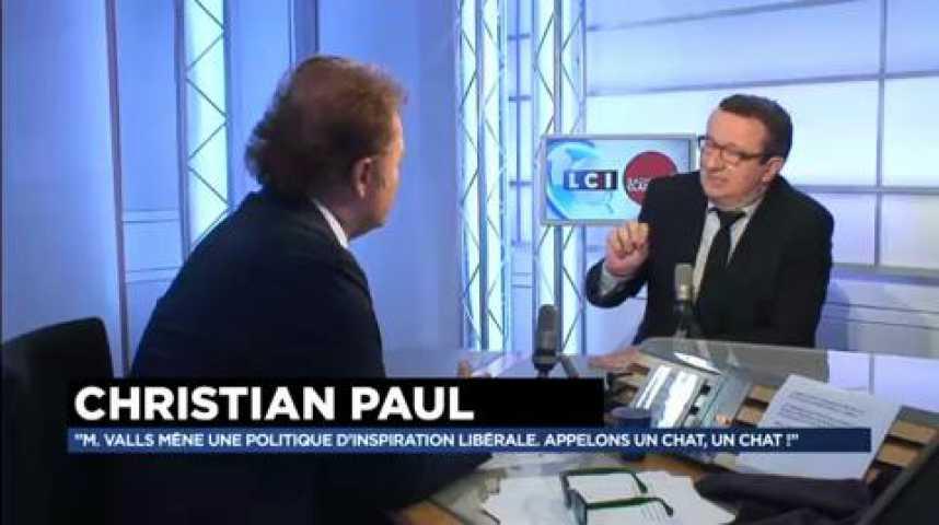 """Illustration pour la vidéo Christian Paul : """"Nicolas Sarkozy aurait été dans la réalité en appelant son parti la Droite Républicaine"""""""
