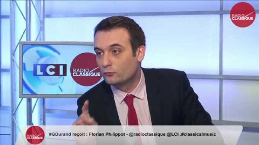 """Illustration pour la vidéo Florian Philippot: """"Marine Le Pen s'opposera à son investiture en PACA."""""""