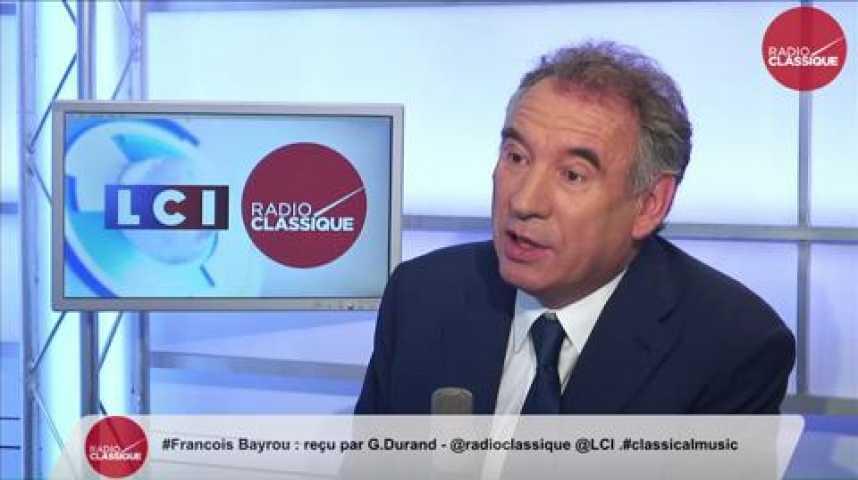 """Illustration pour la vidéo François Bayrou, """"François Hollande n'est pas un choix possible pour l'avenir."""""""