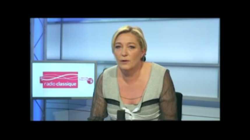 Illustration pour la vidéo Marine Le Pen : Jérôme Cahuzac ne peut pas rester ministre du Budget