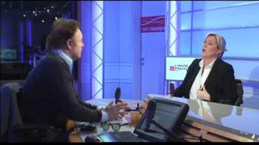 """Illustration pour la vidéo Marine Le Pen : """"Il faut aller à la dissolution"""""""