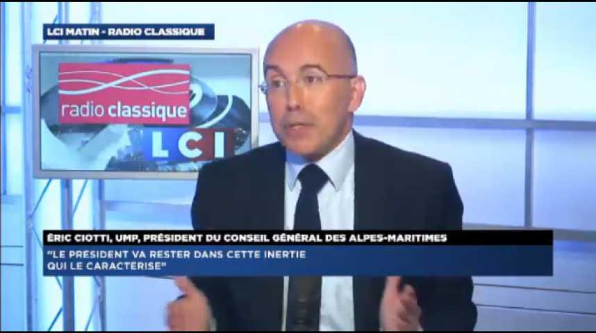 """Illustration pour la vidéo Eric Ciotti (UMP) : """"Je récuse l'action de Manuel Valls"""""""