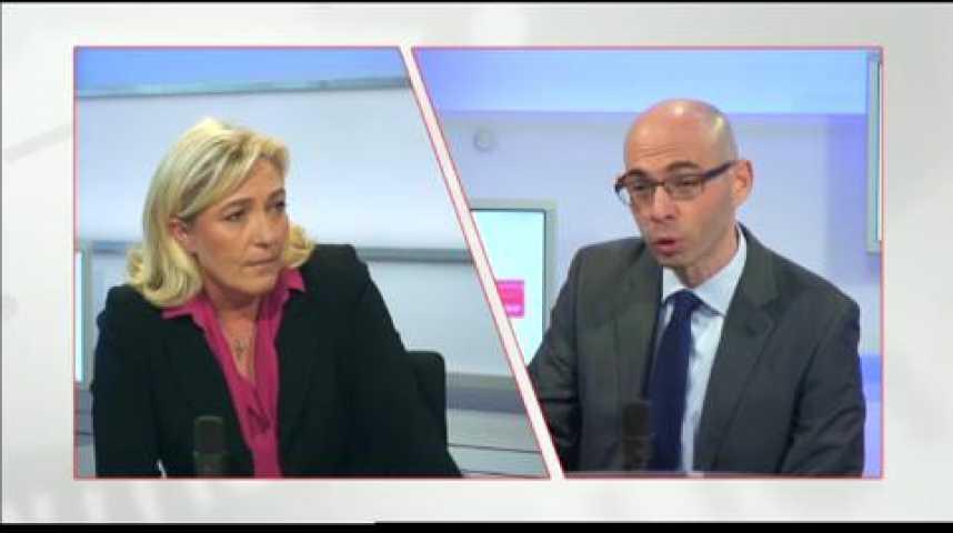 Illustration pour la vidéo L'invité politique : Marine Le Pen (FN)
