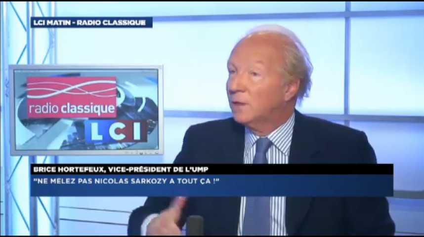 """Illustration pour la vidéo Brice Hortefeux : """"Ne mêlez pas Nicolas Sarkozy à cela !"""""""