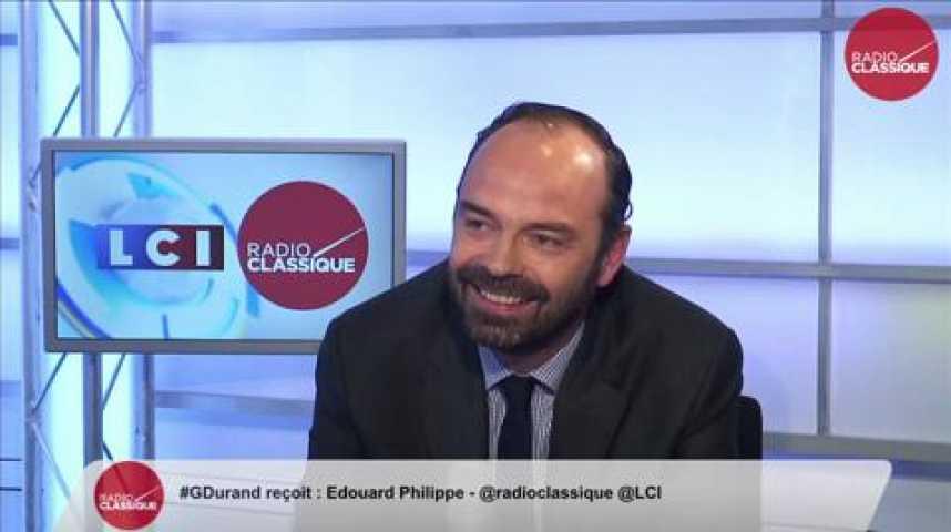 """Illustration pour la vidéo Edouard Philippe: """"Je n'ai jamais mis le PS et le FN sur le même plan et je pense qu'il ne faut pas le faire."""""""