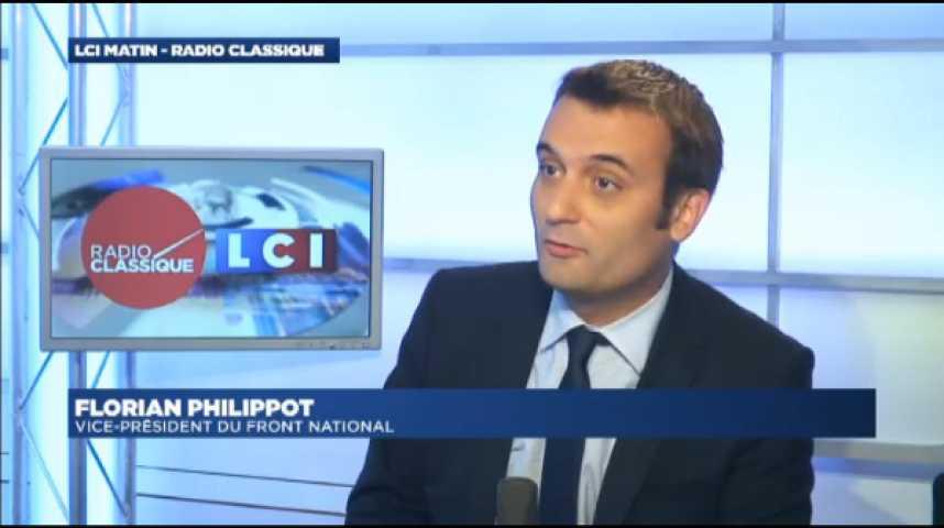 "Illustration pour la vidéo Florian Philippot : ""Sarkozy, c'est un peu la rediffusion d'un film qui a eu son petit succès il y a quinze ans"""