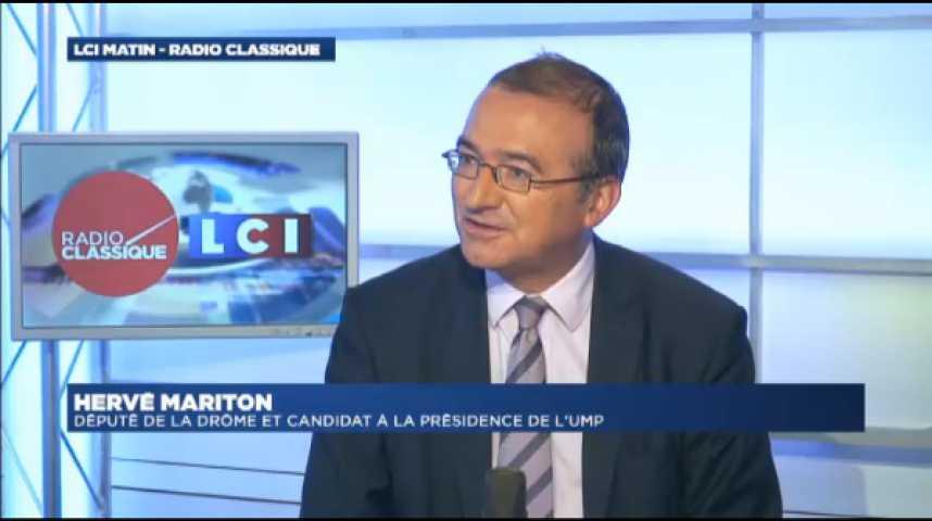 """Illustration pour la vidéo Hervé Mariton : """"Nous demandons à François Hollande de s'en aller""""."""