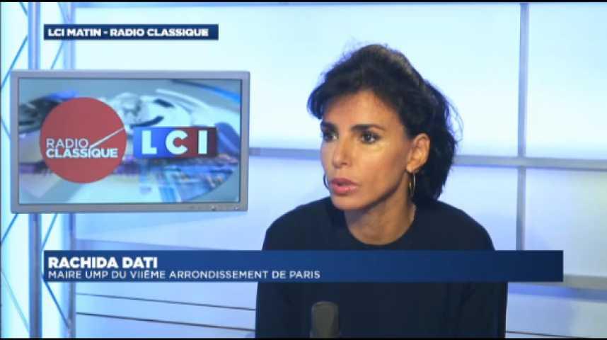 """Illustration pour la vidéo Rachida Dati : """"Pour Manuel Valls, la Gauche est une tenue de camouflage"""""""