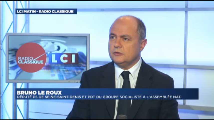 Illustration pour la vidéo Bruno Le Roux: Aquilino Morelle : « Il n'a rien à reprocher aux autres, il a tout à reprocher à son comportement»
