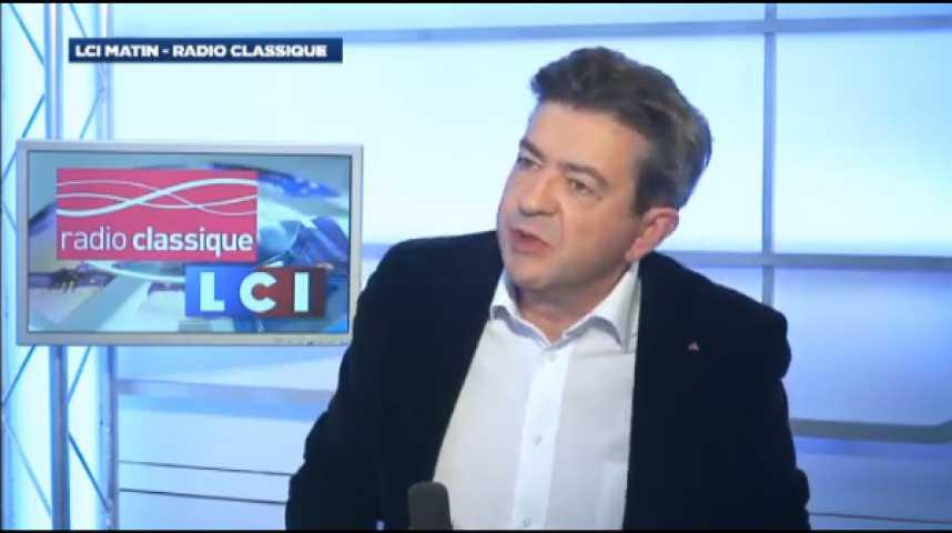 """Illustration pour la vidéo Jean-Luc Mélenchon: """"François Hollande n'est pas faible, il est trompeur"""""""