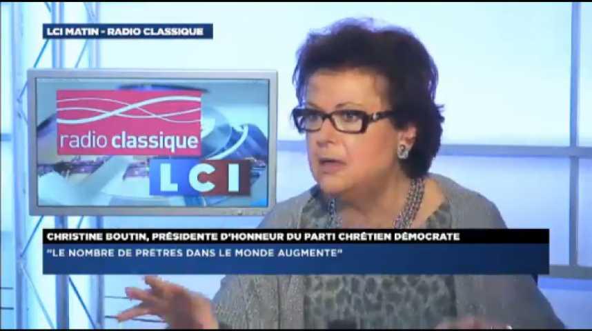 """Illustration pour la vidéo Christine Boutin: """"L'affaire Gayet aurait pu être une affaire privée si le Président s'était présenté comme célibataire"""""""