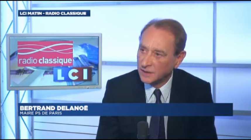 """Illustration pour la vidéo B. Delanoë : """"L'impopularité de l'exécutif nationalpourrait coûter des voix à Anne Hidalgo'"""