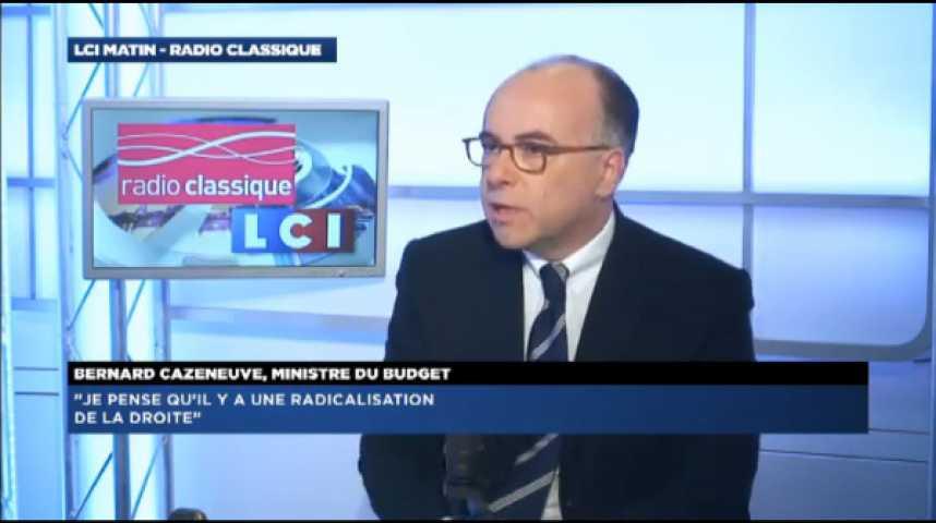 """Illustration pour la vidéo Bernard Cazeneuve: """"Nous n'avons aucune leçon de transparence à recevoir de Nicolas Sarkozy"""""""
