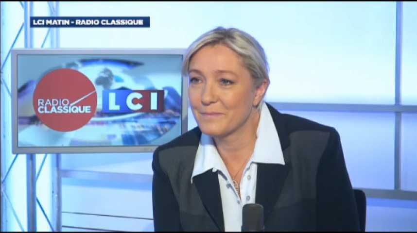 """Illustration pour la vidéo Marine Le Pen : """"La politique d'austérité va reprendre de plus belle"""""""