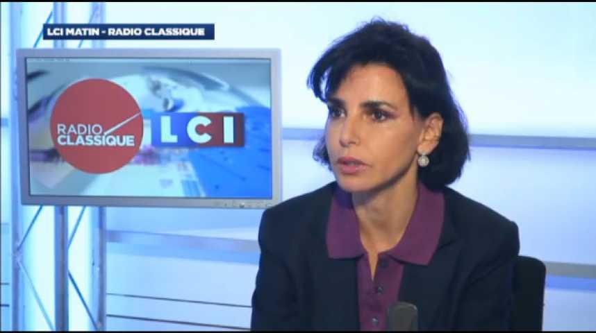 """Illustration pour la vidéo Rachida Dati : """"L'opposition politique est pour l'instant bien incarnée par Marine Le Pen, je le reconnais"""""""
