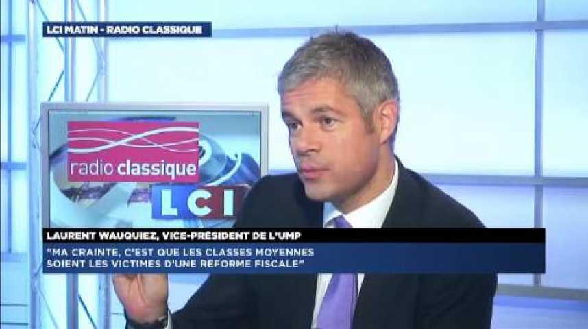 """Illustration pour la vidéo Laurent Wauquiez : """"Pour l'instant, une réforme fiscale est hors-sujet"""""""