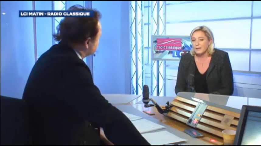 """Illustration pour la vidéo Marine Le Pen : """"Il y a eu un problème de communautarisme dans l'équipe de France"""""""