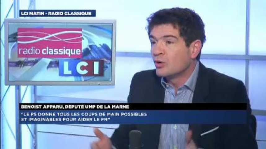 """Illustration pour la vidéo Benoist Apparu: """"Le PS donne tous les coups de main possibles pour aider le FN"""""""