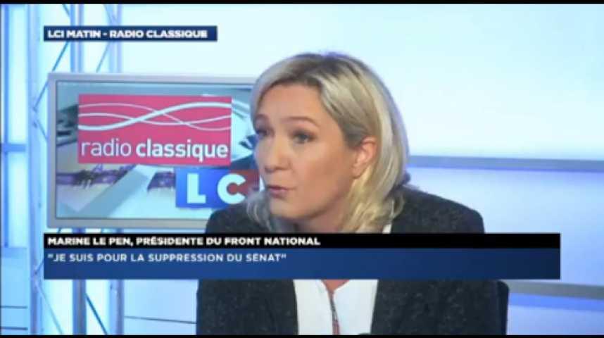 """Illustration pour la vidéo Marine Le Pen: """"En  France, interdire une parole, ça s'appelle de la censure"""""""
