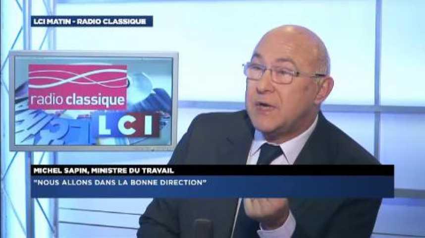 """Illustration pour la vidéo Michel Sapin: """"j'ai vu hier un Premier Ministre combatif """""""