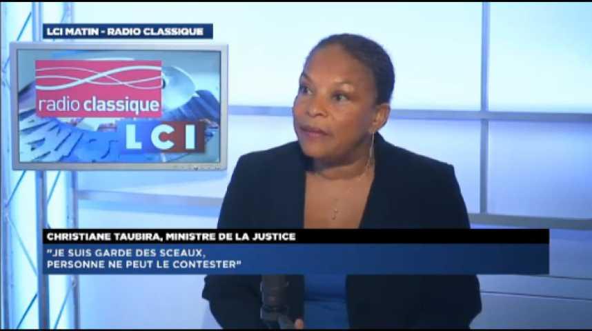 """Illustration pour la vidéo Christiane Taubira: """"Je refuse de faire du Front national un sujet incontournable. Je ne veux pas y participer"""""""
