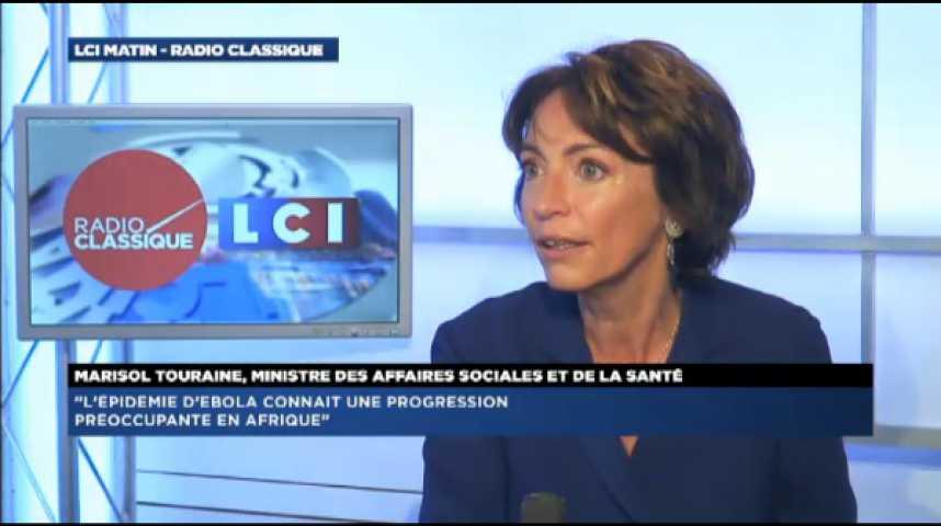 Illustration pour la vidéo Marisol Touraine : « Il n'y a pas de cas d'Ebola sur le territoire français »