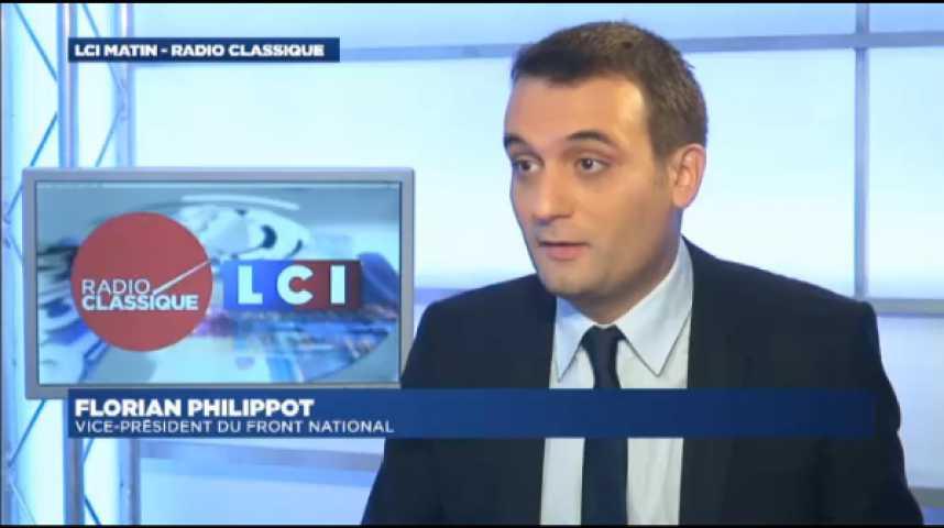 """Illustration pour la vidéo Florian Philippot :""""Si François Hollande veut rendre son émission utile, qu'il annonce la dissolution de l'Assemblée Nationale."""""""