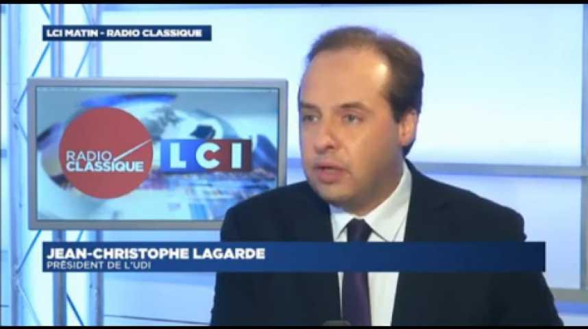 """Illustration pour la vidéo Jean-Christophe Lagarde : """"Si mettre la Droite et le Centre dans le même sac permettait de faire reculer l'extrême droite, on le saurait."""""""