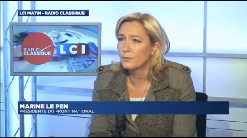 """Illustration pour la vidéo Marine Le Pen : """"Algérie : Mon père a été accusé de choses terribles et la justice lui a donné raison"""""""