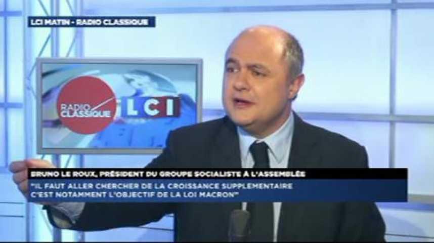 """Illustration pour la vidéo Bruno Le Roux : """"Je veux convaincre Cécile Duflot plutôt que l'assassiner"""""""