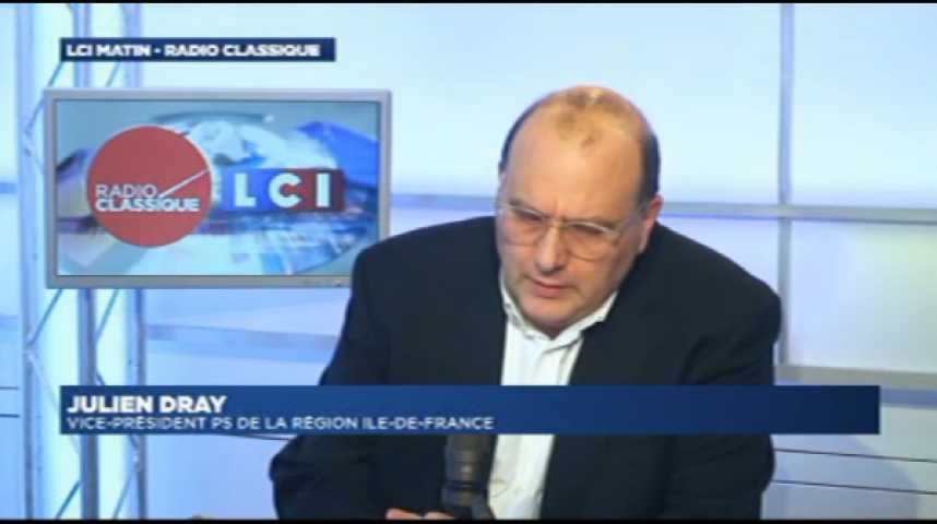 """Illustration pour la vidéo Julien Dray : Travail du Dimanche : """"Je respecte ce que dit Martine Aubry mais je suis en total désaccord."""""""