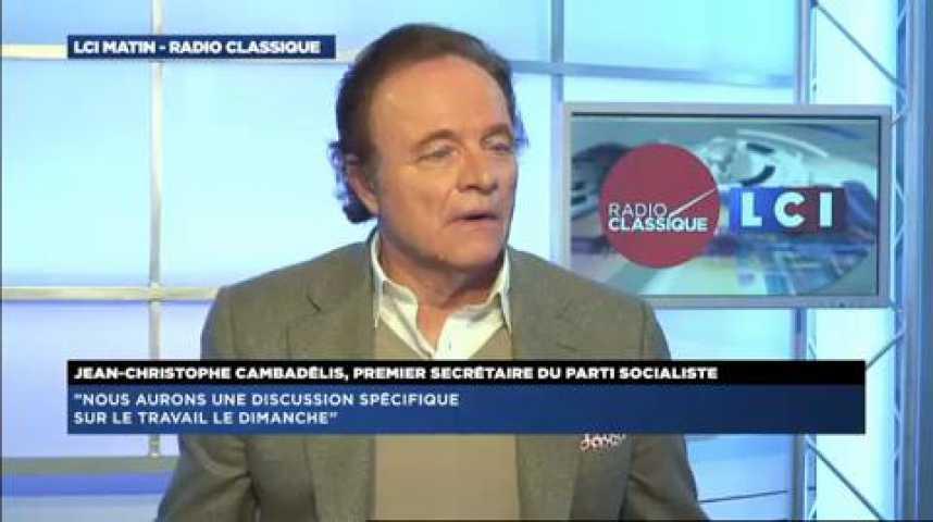 """Illustration pour la vidéo Jean-Christophe Cambadélis : """"Loi Macron : Cette loi peut être améliorée et nous comptons bien l'améliorer"""""""