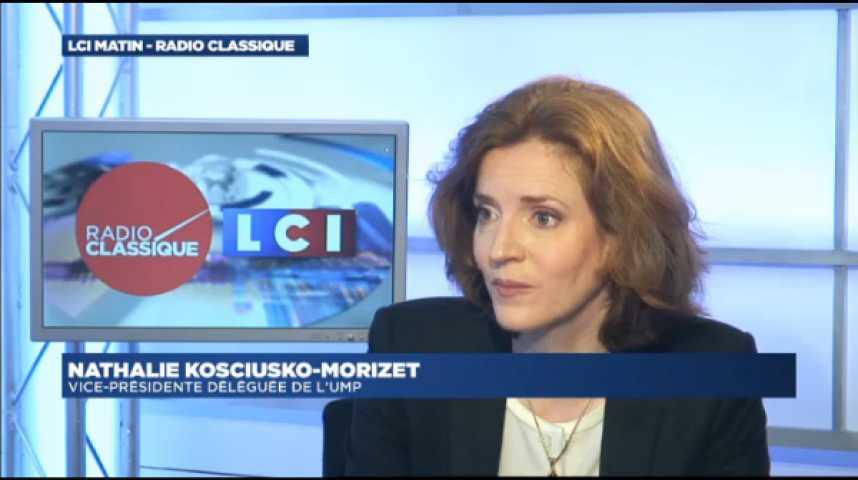"""Illustration pour la vidéo Nathalie Kosciusko-Morizet : """" S'il faut passer par la loi Macron [pour ouvrir le travail le dimanche], va pour la loi"""""""