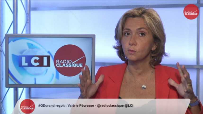 """Illustration pour la vidéo Valérie Pécresse : """" Le discours de Valls était choc et il ne proposait que des petits remèdes"""""""