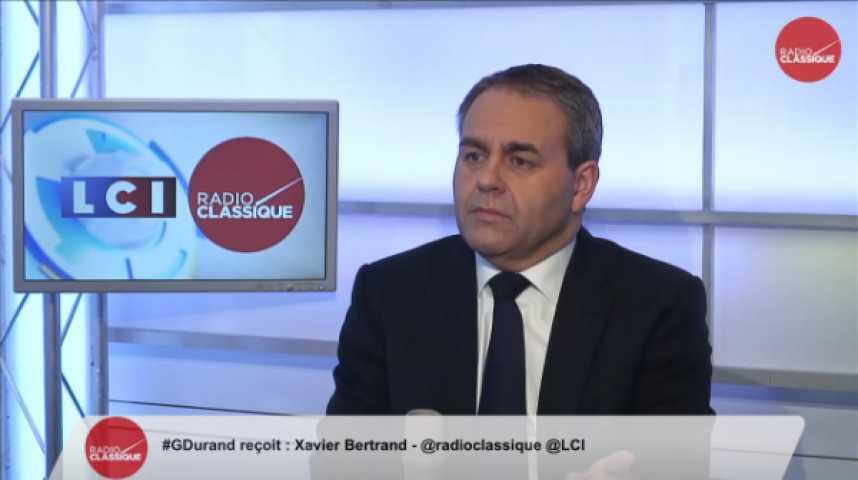 """Illustration pour la vidéo Xavier Bertrand : Chômage : """" L""""échec est collectif """""""