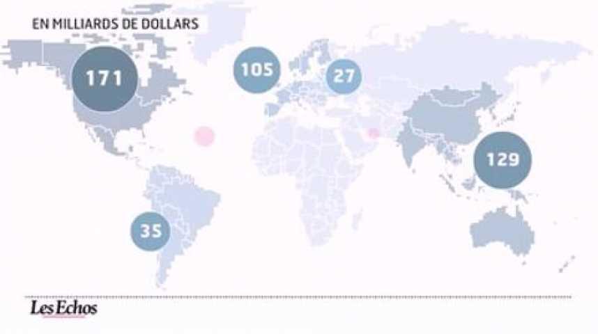 Illustration pour la vidéo L'infographie du jour : Publicité mondiale, croissance continue en vue