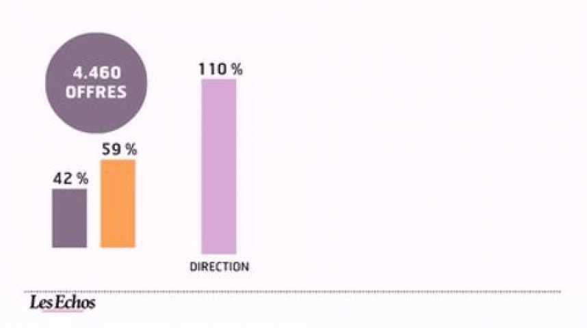 Illustration pour la vidéo L'infographie du jour : l'emploi cadre résiste bien à la crise